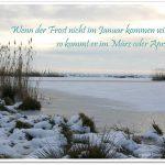 Bauernweisheit für Januar – Zitat im Bild #5